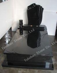 기념탑을%s 공장에 의하여 주문을 받아서 만들어지는 Shanxi 까만 화강암 돌 유럽식 새기는 묘석 또는 묘비 또는 기념물