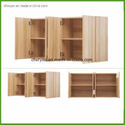 Portello modulare dell'armadio da cucina della pellicola del PVC con gli armadi da cucina bassi della carcassa per mobilia di legno