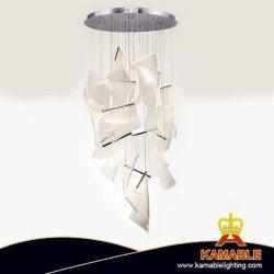 Moderno hotel de lujo LED decorativa lámpara de araña de techo colgantes (KAMD1818A-14)