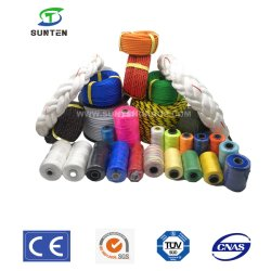 Стандарт ЕС PP/PE/HDPE/Нейлон/полиэтилена и полипропилена/полиэстер/пластик/повороты витая/ЭКРАНИРУЮЩАЯ ОПЛЕТКА/оплетка/рыболовства и морских/швартовые/Упаковка веревки