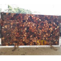 De stevige 2cm Dikke Bruine Countertop van het Agaat Moderne Staaf/Decoratie van de Bovenkant van de Lijst van de Ontvangst