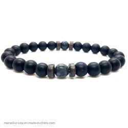 Förderung-Geschenk-Mann-natürliche Raupe-Lava-Stein-Armband-Form-Schmucksachen
