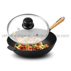 Couvercle en verre trempé de la série G pour le poêle à frire et pot avec jante S/S