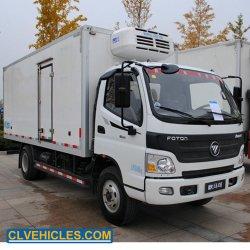 Foton 3 de Ton Gekoelde Vrachtwagen van het Overzeese Voedsel van het Roomijs van de Vrachtwagen van de Ijskast van de Vrachtwagen van de Bestelwagen