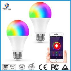 Smart RGBW Ampoule de LED 12W fonctionne avec l'Assistant d'accueil Google Amazon Alexa A60 A19 Fxiture E27 Lampe d'éclairage réglable multicolore ampoule de feu contrôlée de l'APP WiFi
