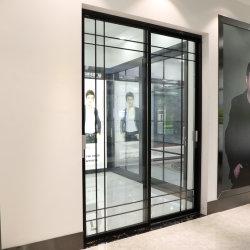 Nouveau populaire italien Slim en verre trempé les portes coulissantes en aluminium