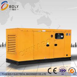 precio de fábrica utilizado 200kw de potencia Diesel insonorizados carrera ocho Super Silencioso generador con batería libre