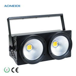 2X100W LED COB Matrix anteojeras Ww Cw 2in1 Lavar Effec luz