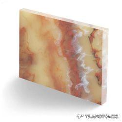 Искусственные модели коричневого цвета с подсветкой каменными плитками на Curving стола