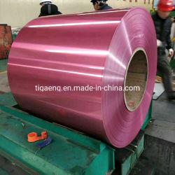 preço de fábrica espelho revestido a PE polidos 1050 H14 da bobina de alumínio para coberturas