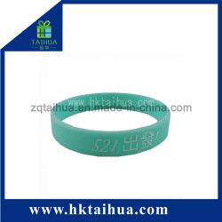 暗い紫外線シリコーンのブレスレット/リスト・ストラップ(TH-UV6896)の白熱