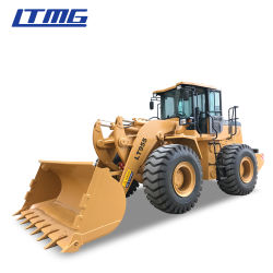 El chino Payloader ZL50 el equipo de construcción cargadora frontal 8 de 7 Ton Ton Ton Ton cargadora de ruedas de 6 a 5 con cabina ROPS/FOPS y Joystick controla