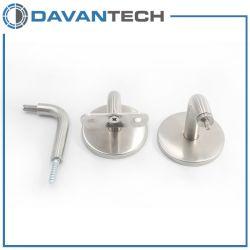 De Mecanizado CNC de altas prestaciones el soporte de pasamanos de hermoso diseño