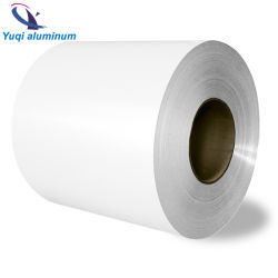 Cor de PVDF branco da bobina de alumínio revestido de preço do Rolo