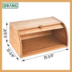 Silos di immagazzinamento basso di bambù del pane del controsoffitto del contenitore di pane Rolltop Breadbox