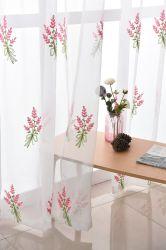 Home Comércio por grosso de têxteis bordados decorativos tecido Voile Vidro de alta qualidade