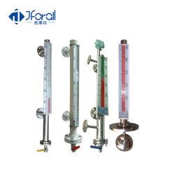 Montage supérieur Jforall Installer la bride de la vue magnétique de type float tube de verre doseur jauge de niveau de liquide