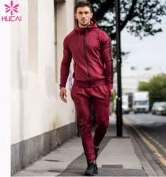 Commerce de gros de vêtements de piste personnalisé hommes Polyester costume de sueur