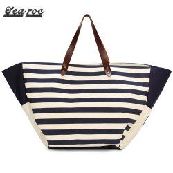 Mode toile imprimée en soie un sac de shopping Grandes femmes sac fourre-tout (RSS3263)