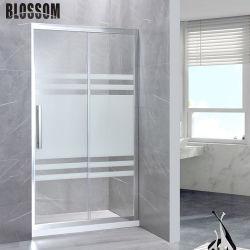 Salle de bains simple salle de boîtier de profilé en aluminium porte de douche coulissantes en verre trempé