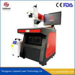 Hochgeschwindigkeitsplastikbildschirm-UVlaser-Markierungs-Maschine des glasflasche Qr Code-Firmenzeichen-Drucken-Tischplattenminilicht-LED für Birnen