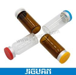 약 포장 주름 최고 호박색 명확한 투명한 관 혈청 메마른 10ml 유리 작은 유리병