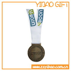 سعر المصنع بيع الساخنة الخاص بك تصميم المينا الناعم إدارة الميدالية الرياضية المعدنية الذهبية جائزة الميدالية المعدنية مع الشريط (YB-M-002)