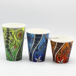 Индивидуальный логотип одноразовые экологически безвредные Single-Wall горячий напиток кофе чашку бумаги