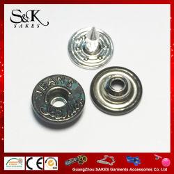 Ribattino d'ottone su ordinazione del metallo H65 di marca di colore operato con i chiodi di alluminio