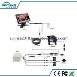 sensore di parcheggio del camion collegato tensione 24V con visualizzazione 7inch e 4 PCS che invertono i sensori di Digitahi