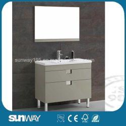 Plancher moderne salle de bains de gros MDF permanent Vanités Cabinet