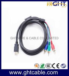 1.5M/1,8 м 720p/1080P/2160 p 3RCA к HDMI Разъем - Разъем кабеля AV
