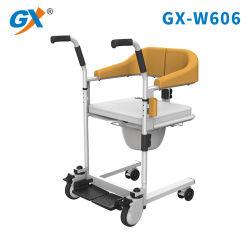 Una silla de ruedas de transferencia de multifunción el bastidor de acero con recubrimiento epoxi