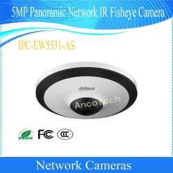 Camera van IRL Fisheye van het Netwerk van het Toezicht van de Dag/van de Nacht van Dahua 5MP de Panoramische (ipc-ew5531-ZOALS)