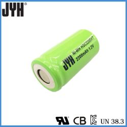 NiMH SC/AA/C/D/F サイズ 2200mAh NiMH バッテリパック