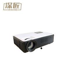 LCD LEDプロジェクター5500内腔の組み込みのアンドロイド6.0のWiFi Bt完全なHDプロジェクター1080P HD VGA USBプロジェクター