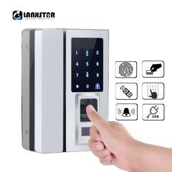 باب زجاجيّة ذكيّة إلكترونيّة [دوور لوك] [تووش سكرين] بصمة /Password رمل /RFID بطاقة
