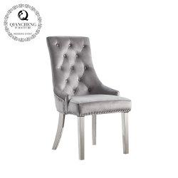 حديثة [إيوروبن] أسلوب فندق يتعشّى كرسي تثبيت [ستينلسّ ستيل] ساق مخمل يتعشّى كرسي تثبيت