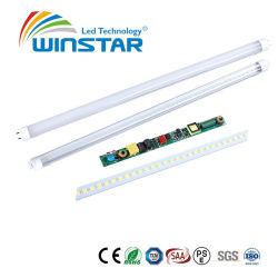 Ce/RoHS 0,6 m 8W 160lm/W no parpadea la luz del tubo LED T8 fluorescentes