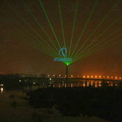 De stedelijke Software Pangolin van de Laser van het Effect van het Oriëntatiepunt Groene 48W Lichte