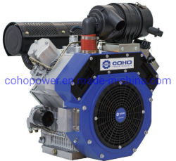 23 HP 2 cilindros do motor Diesel Air-Cooled