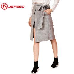 La moda de invierno de cintura alta mujer Dama Falda vendaje MIDI