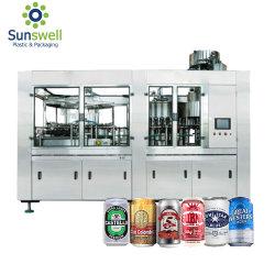 Brasserie de bière vide d'usine de traitement de jus de remplissage de l'aluminium peut Boissons Produits végétaux Ligne de remplissage