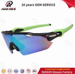 Usura di riciclaggio di sport degli occhiali da sole della bici delle donne degli uomini di vetro della bicicletta di sport esterni di vetro di Sun