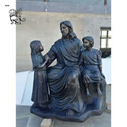 装飾Bfsr-54のための中国の製造者の庭の装飾の芸術の真鍮の彫像のイエス・キリストのブロンズ彫刻