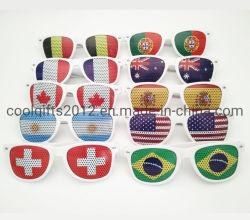 Lunettes de soleil en plastique personnalisé Fashion Pinhole autocollant bon marché des lunettes de soleil pour cadeau promotionnel