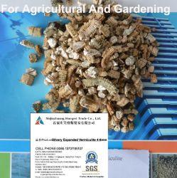 使用された銀色のバーミキュライトの金拡大されたバーミキュライトを植えている農業の園芸実生植物