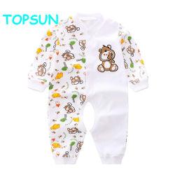De dier Afgedrukte Kleren van de Koker van de Jongen van de Baby Lange 100% Kostuum van het Kruippakje van de Katoenen 0-24 Zuigeling van de Maand