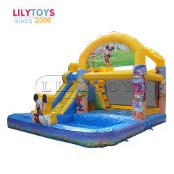 Almofada insuflável playground coberto Equipamentos, saltos insuflável castelo insuflável deslize de gavetas
