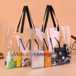Housse imperméable personnalisé cadeau transparente en PVC/un sac de shopping pour la plage